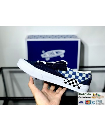 New Vans Slip-On Shoes Cap LX White & Blue Sneakers