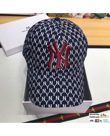 New York Yankees Blue Baseball Hat With Full NY Markers