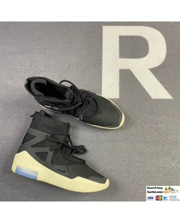 Nike Air Fear of God 1 Black & White Men's Shoes