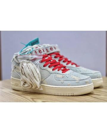 Nike Air Force 1 x Levi's 0069 White Denim Board shoes