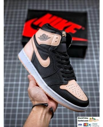 Nike Air Jordan 1 Retro High Black & Pink Shoes