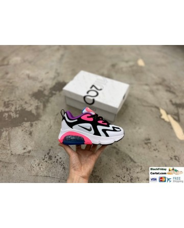 Nike Air Max 200 Childrens Trainers White & Black & Pink