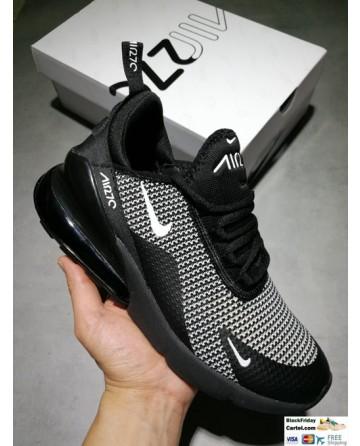 Nike Air Max 270 Flyknit Black & White Men's Shoes