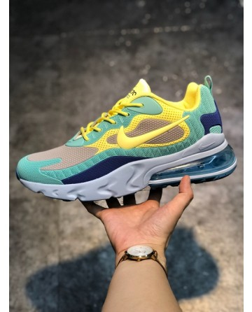 Nike Air Max 270 Reacet Running Shoes With Yellow Logo