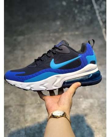 Nike Air Max 270 Reacet Sports Shoes With Blue Logo
