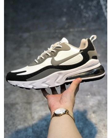 Nike Air Max 270 Reacet Sports Shoes With Grey Logo