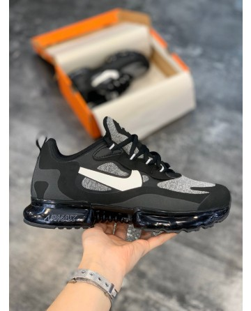 Nike Air Max 270 React Bauhaus 270 V2 Black Shoes & White Logo