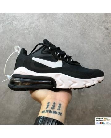 Nike Air Max 270 React Hyper Jade Black & White Running Shoes