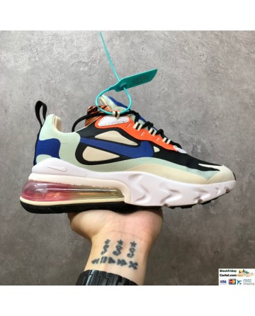 Nike Air Max 270 React Hyper Jade Running Shoes In Multicolor