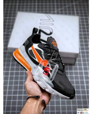 Nike Air Max 270 React SE Men's Shoes Black & Orange & Gery