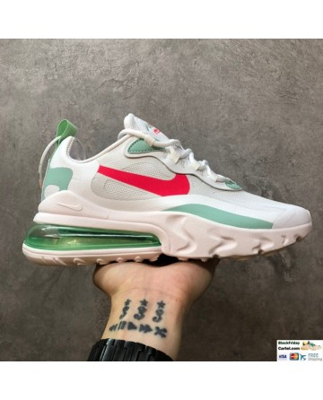 Nike Air Max 270 React Trainers Hyper Jade Green & White & Red