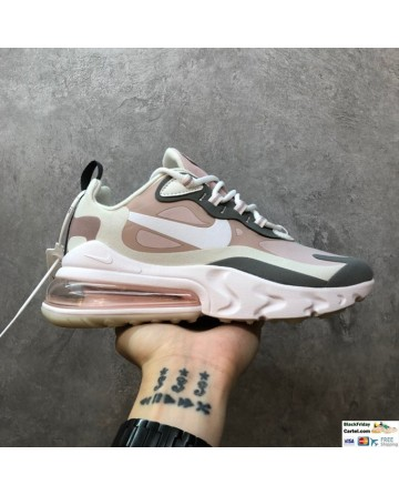 Nike Air Max 270 React Trainers Hyper Jade Pink & White & Grey