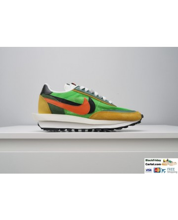 Nike Air Zoom Spiridon Cage 2 Stussy Shoes Green & Yellow & Orange
