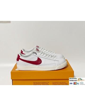 Nike Blazer Low LE Men's Shoes White & Red