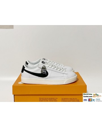 Nike Blazer Low LE White & Black Men's Shoes