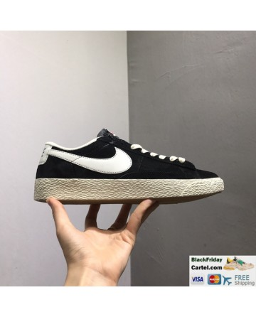 Nike Blazer Low PRM VNTG Mens Black Shoes