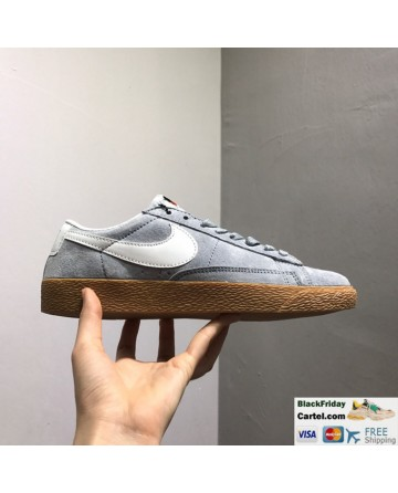 Nike Blazer Low PRM VNTG Mens Grey Shoes