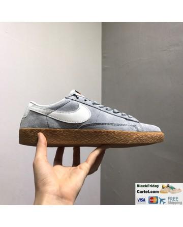 Nike Blazer Low PRM VNTG Mens Grey Shoes