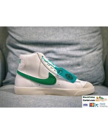 Nike Blazer Mid Vintage Lucid Green 1997 Sport Shoes Green Logo
