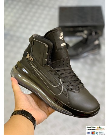 Nike Leather Air Max 720 Saturn Black Sneaker Shoes