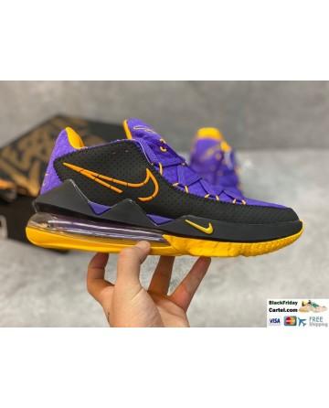 Nike LeBron 17 Low Tune Squad Purple & Black & Yellow Shoes