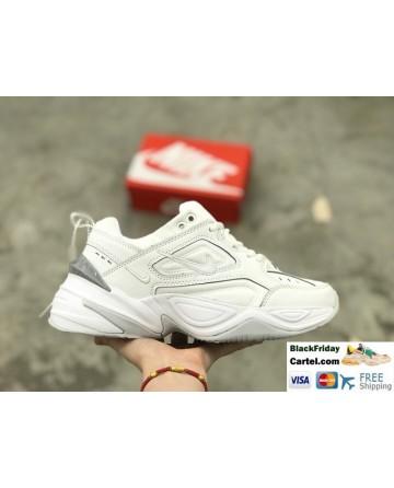 Nike M2K Tekno Leather Sneakers White & Grey