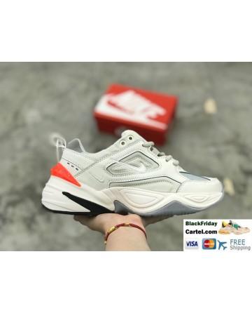 Nike M2K Tekno Leather Sneakers White & Orange & Black