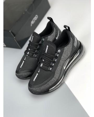 Nike Max 720C Men's Shoes Black & Grey With White Logo