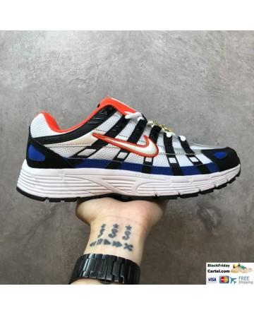 Nike P6000 Sneakers in Triple White Blue Orange