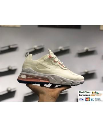 Nike React Air Max 270 Faint Yellow Casual Running Shoes