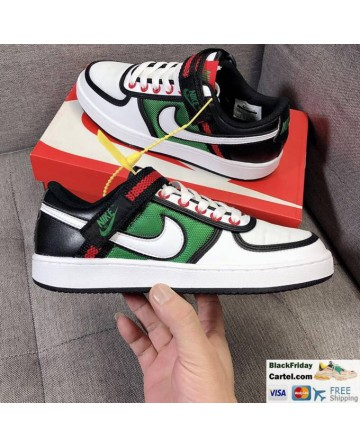 Nike Vandal Low GS DS Sneakers Black & White & Green