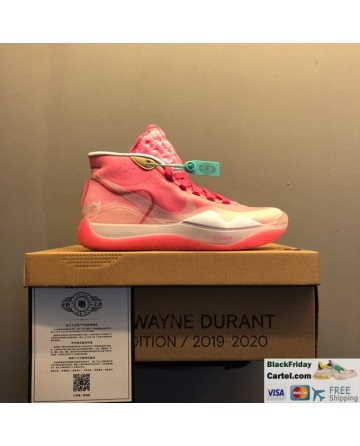 Nike Zoom KD 12 Summer Basketball Shoes Pink Running Shoes