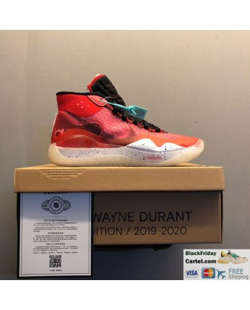 Nike Zoom KD 12 Summer Basketball Shoes Red Running Shoes