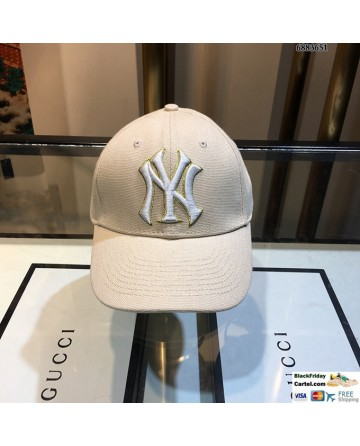 NY Cream Baseball Hat One Size Adjustable