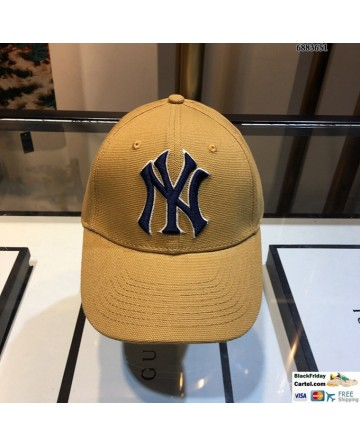 NY Yellow Baseball Cap Adjustable