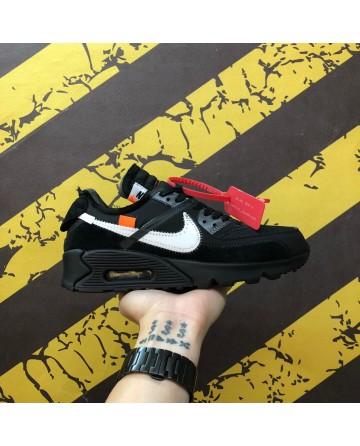 OF-White X Nike Air Max 90 2.0 Black&White Shoes