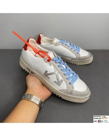 Off-White Low Vulcanized Sneaker White & Blue
