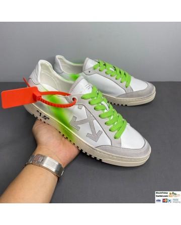 Off-White Low Vulcanized Sneaker White & Green