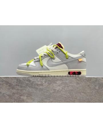 OFF-White x Futura x Nike SB Dunk LOW THE 50 Grey White Fashion Sneaker