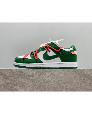 OFF-White x Futura x Nike SB Dunk Sports Shoes CT0856-100 Green/White/Red