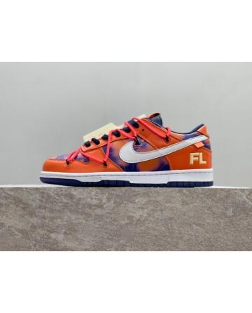 OFF-White x Futura x NK SB Dunk LOW Orange Sneaker