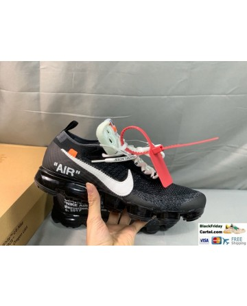 Off-White x Nike Air VaporMax Black & White Running Shoes