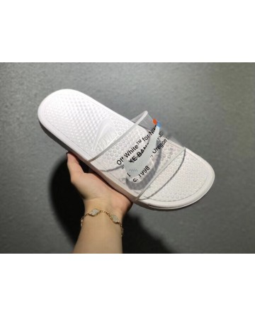 Off White X Nike White Transparent Slippers