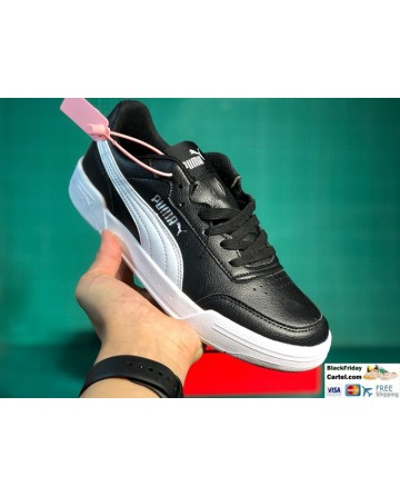 Puma Leather Caracal Sneaker in Black