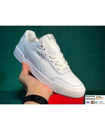 Puma Leather Caracal Sneaker in White