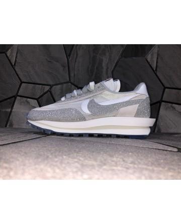 Sacai X Nike Ldv Waffle Daybreak Beige Sports Shoes Double Tongues