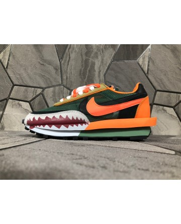 Sacai X Nike Ldv Waffle Daybreak Shark tank Sports Shoes double Tongues