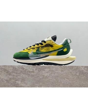 Sacai X Nike VaporWaffle Tour Yellow Sports Shoes Rubber waffle Outsoles