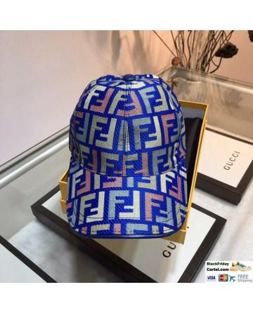 Unisex Fendi Forever FF Logo Baseball Hat