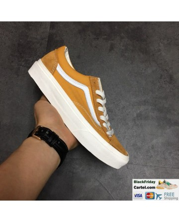 Vans Style 36 Dress Aspen Gold Navy Suede Canvas Classic Sneakers